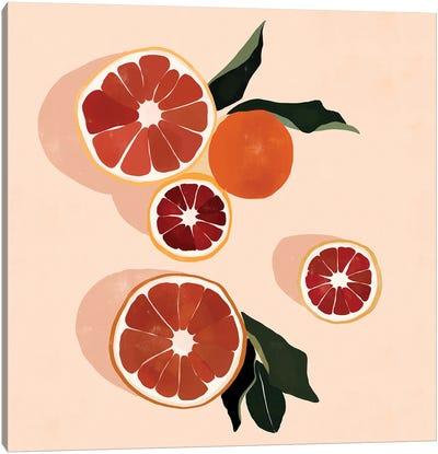 Grapefruit Canvas Art Print