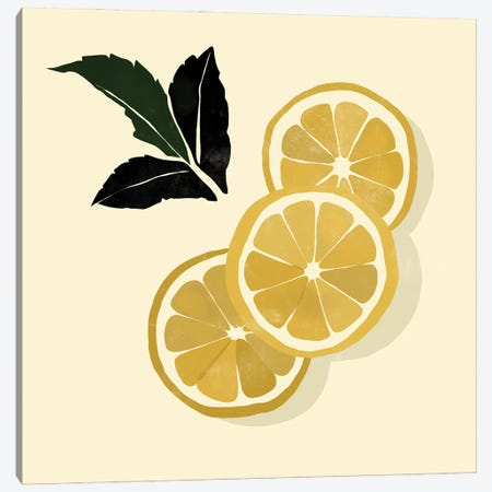 Lemons Canvas Print #BNC49} by Bria Nicole Canvas Print