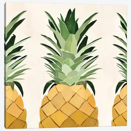Pineapple Trio Canvas Print #BNC51} by Bria Nicole Canvas Art