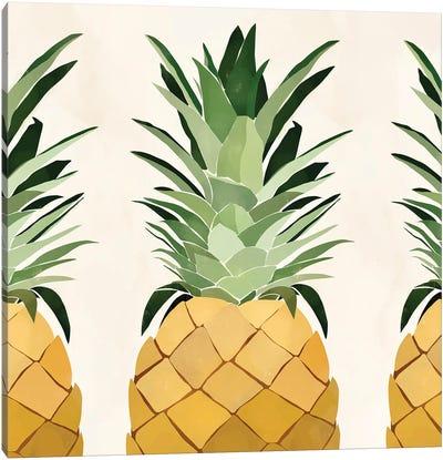 Pineapple Trio Canvas Art Print