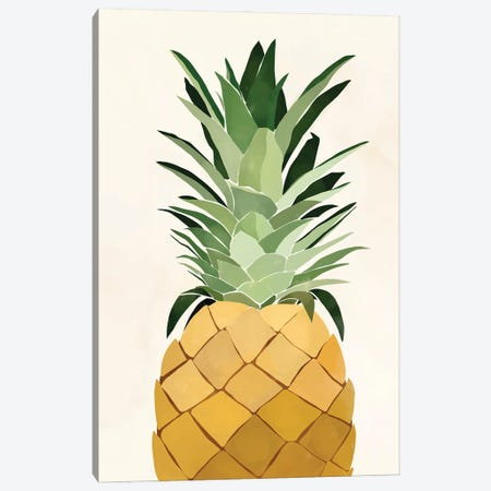 Pineapple Single Canvas Print #BNC54} by Bria Nicole Canvas Print