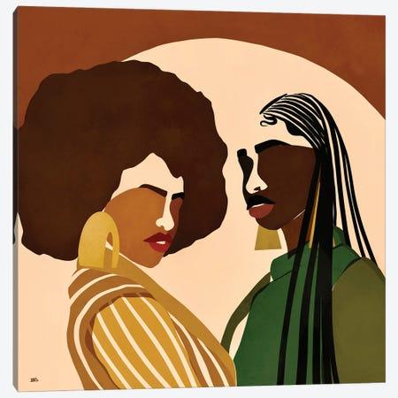 Fly Sistas Canvas Print #BNC65} by Bria Nicole Canvas Wall Art