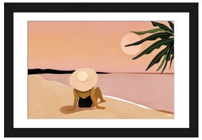 Beach Gaze Framed Art Print