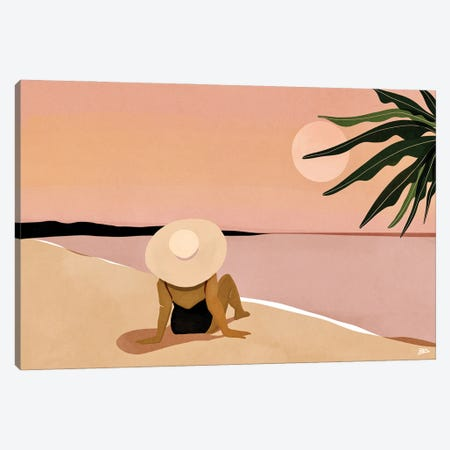 Beach Gaze Canvas Print #BNC66} by Bria Nicole Canvas Art