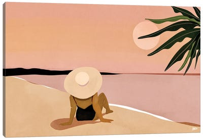 Beach Gaze Canvas Art Print