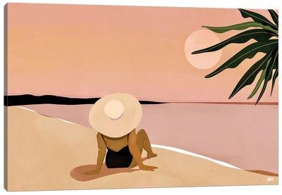 Beach Gaze Canvas Art Print