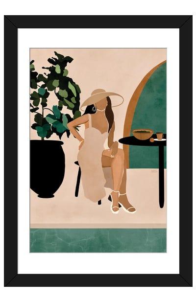 Poolside Brunch Framed Art Print