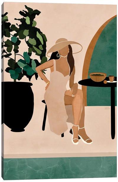 Poolside Brunch Canvas Art Print