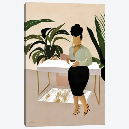 Boss Babe Canvas Print #BNC70} by Bria Nicole Canvas Artwork