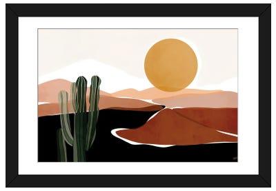 Desert Calm Framed Art Print