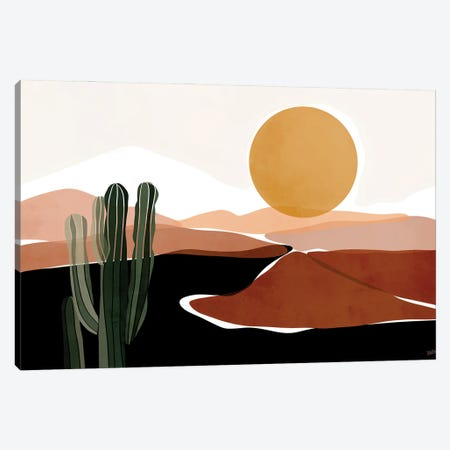 Desert Calm Canvas Print #BNC7} by Bria Nicole Canvas Wall Art