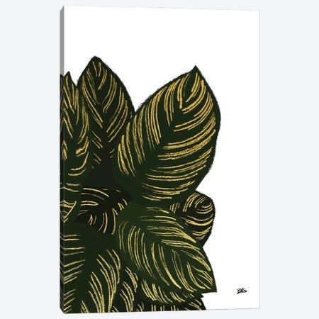 Calas III (gold) Canvas Print #BNC86} by Bria Nicole Canvas Art