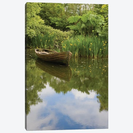 Ireland, County Clareold Boat And Pond, Bunratty Folk Park. Canvas Print #BND18} by Brenda Tharp Canvas Print