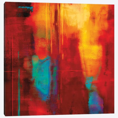 Red Zone I Canvas Print #BNE72} by Brent Nelson Canvas Art