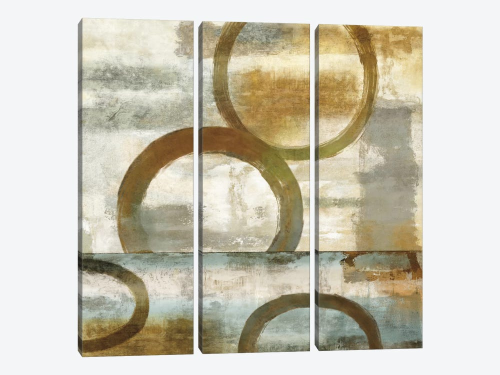 Round And Round II by Brent Nelson 3-piece Canvas Print