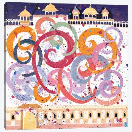 Holi Festival - India Canvas Print #BNI10} by Berit Bredahl Nielsen Canvas Wall Art