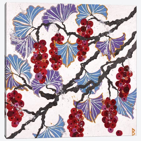 Red Berries Canvas Print #BNI12} by Berit Bredahl Nielsen Canvas Wall Art