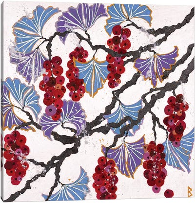 Red Berries Canvas Art Print