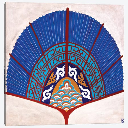 Chinese Fan II Canvas Print #BNI15} by Berit Bredahl Nielsen Canvas Print