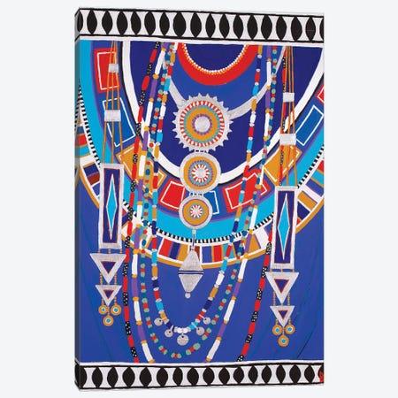Masai Woman II - Blue Canvas Print #BNI17} by Berit Bredahl Nielsen Art Print