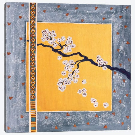 Cherry Blossoms Canvas Print #BNI1} by Berit Bredahl Nielsen Canvas Art Print