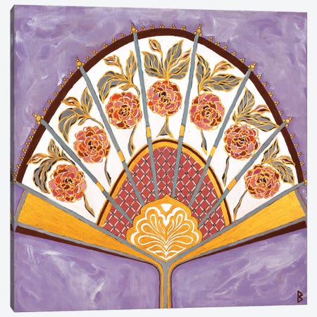 Persian Fan Canvas Print #BNI21} by Berit Bredahl Nielsen Canvas Art Print