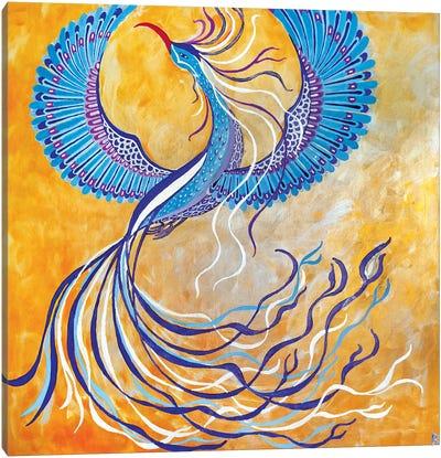 Blue Phoenix Canvas Art Print