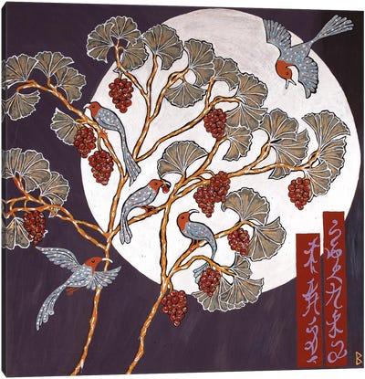 Moon Birds Canvas Art Print