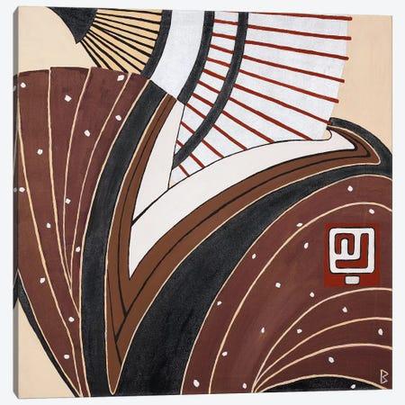 Kimono And Fan Canvas Print #BNI5} by Berit Bredahl Nielsen Canvas Artwork