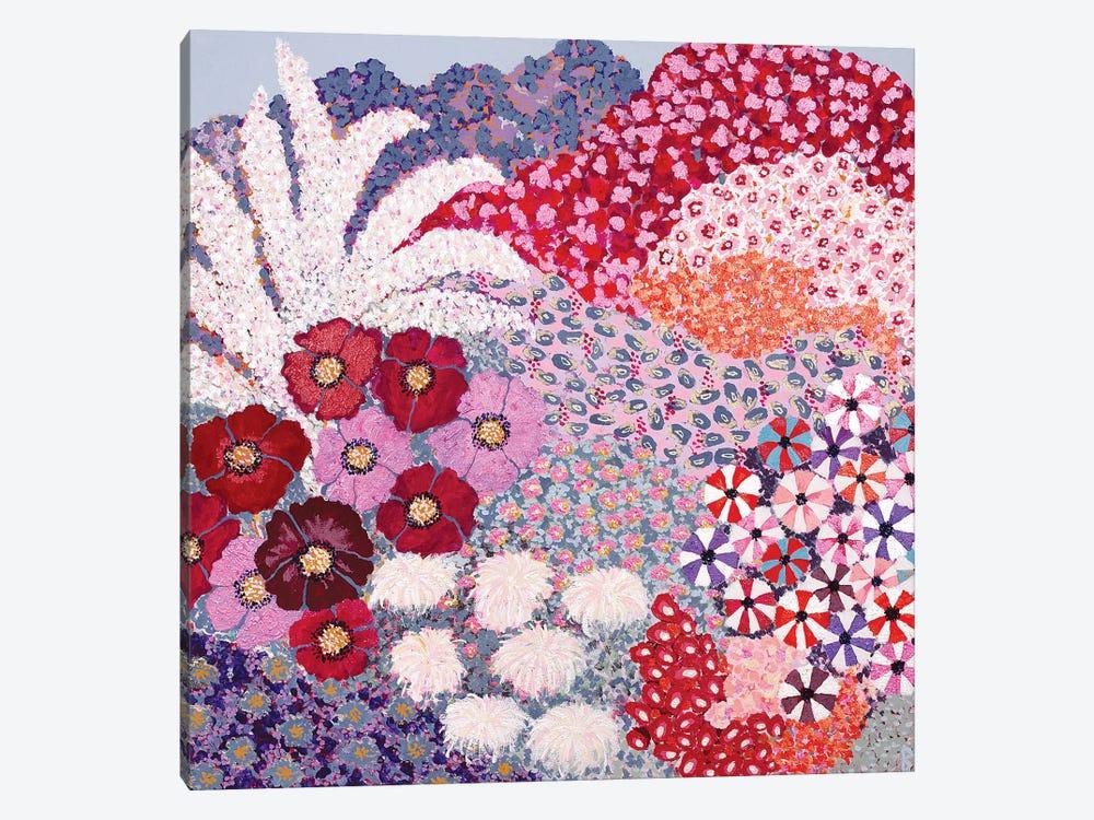 Garden With Poppies by Berit Bredahl Nielsen 1-piece Canvas Print