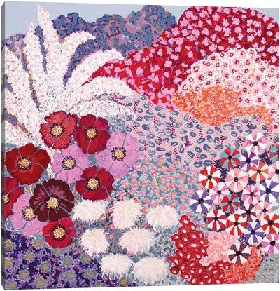 Garden With Poppies Canvas Art Print