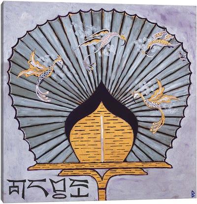 Oriental Fan III Canvas Art Print