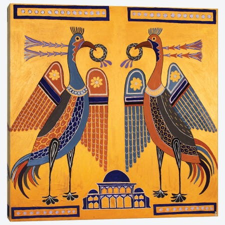Byzantine Birds Canvas Print #BNI9} by Berit Bredahl Nielsen Art Print