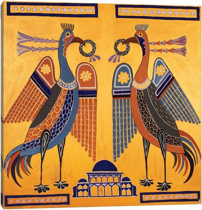 Byzantine Birds Canvas Art Print