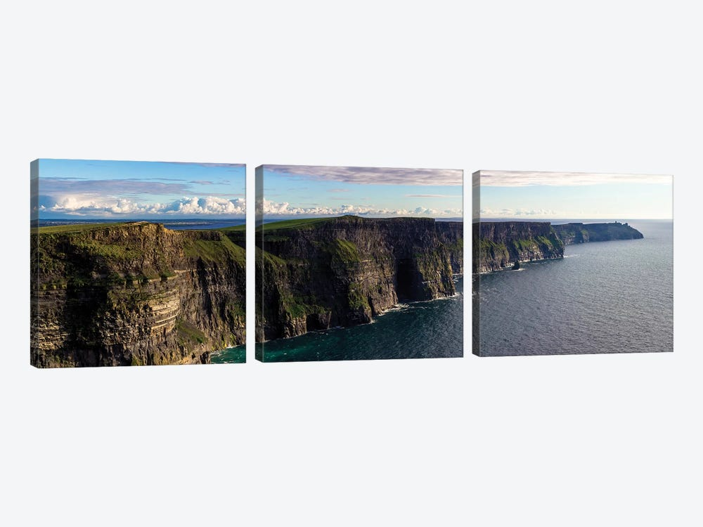 Cliffs Of Moher by Stede Bonnett 3-piece Canvas Art Print