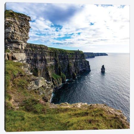 Cliffs Of Moher Square 3-Piece Canvas #BNN4} by Stede Bonnett Art Print