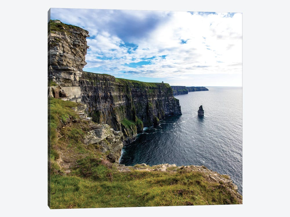 Cliffs Of Moher Square by Stede Bonnett 1-piece Canvas Wall Art