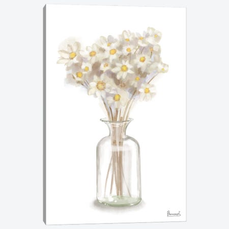 Dried Flower Yellow I Canvas Print #BNR100} by Bannarot Canvas Wall Art