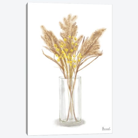 Dried Flower Yellow IV Canvas Print #BNR103} by Bannarot Canvas Art