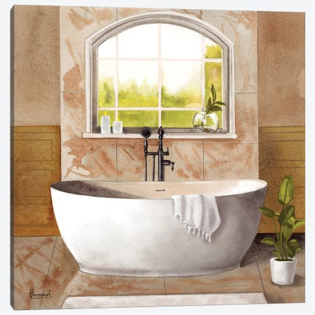 Marble Bath I Canvas Print #BNR14} by Bannarot Canvas Art