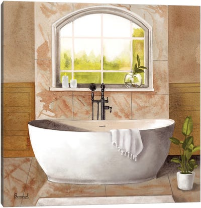 Marble Bath I Canvas Art Print