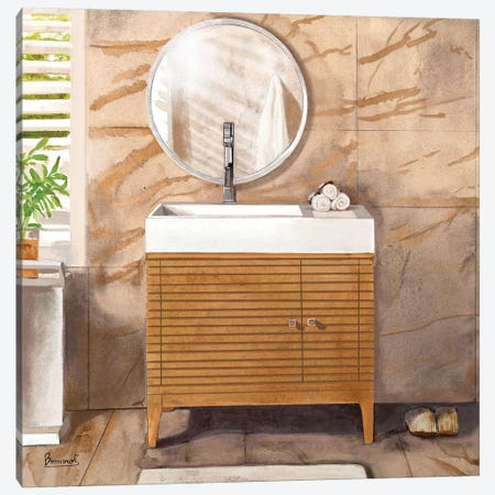 Marble Bath II Canvas Print #BNR15} by Bannarot Canvas Wall Art