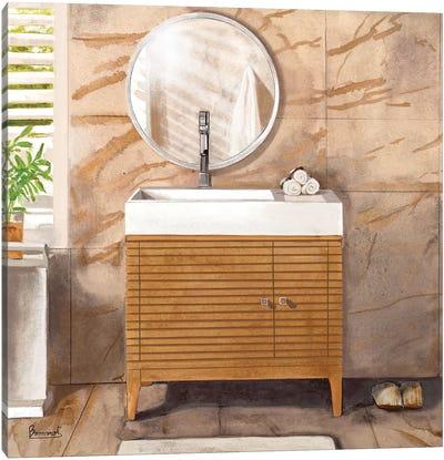 Marble Bath II Canvas Art Print