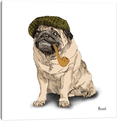 Pugs in hats II Canvas Art Print