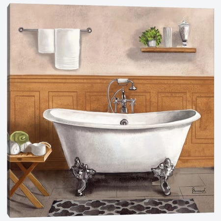Serene Bath I Canvas Print #BNR22} by Bannarot Canvas Art