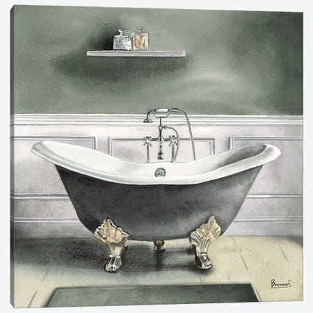Smoky Gray Bath I Canvas Print #BNR24} by Bannarot Canvas Print