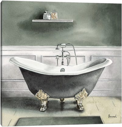 Smoky Gray Bath I Canvas Art Print