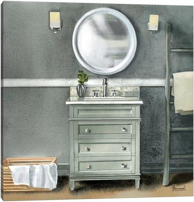 Smoky Gray Bath II Canvas Art Print