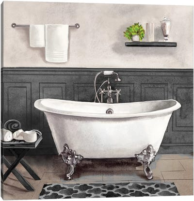 Serene Bath II Black & White Canvas Art Print