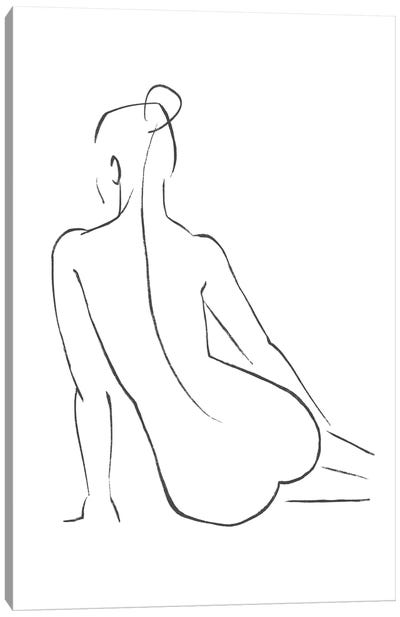 Line Art Figure IV Canvas Art Print